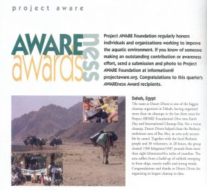 project-awareness-award-for-desert-divers-dahab